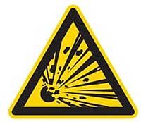 Gas Warnhinweis (Symbol)