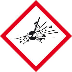 Gefahrensymbol: Explodierende Bombe