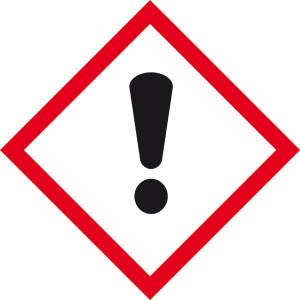 Gefahrensymbol: Ausrufezeichen